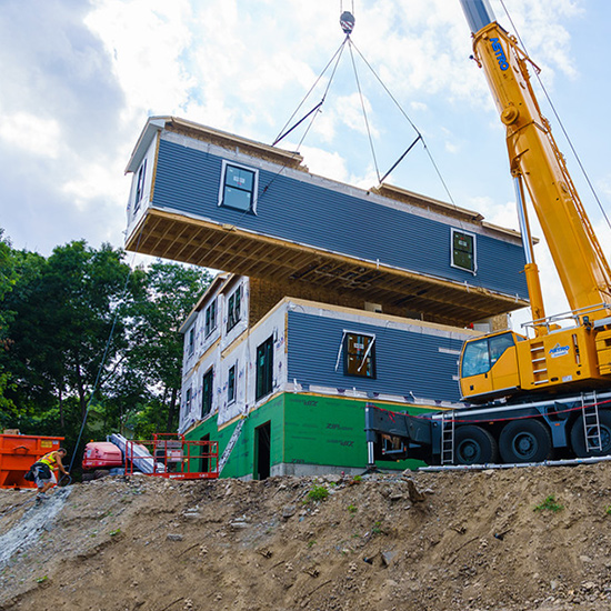 Modular Homes Staging and Delivery by KBS Builders